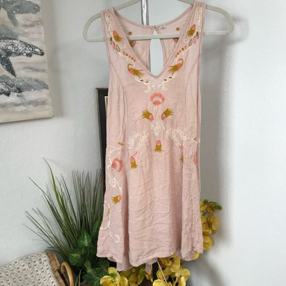 Free People Adelaide Festival Dress Pink S